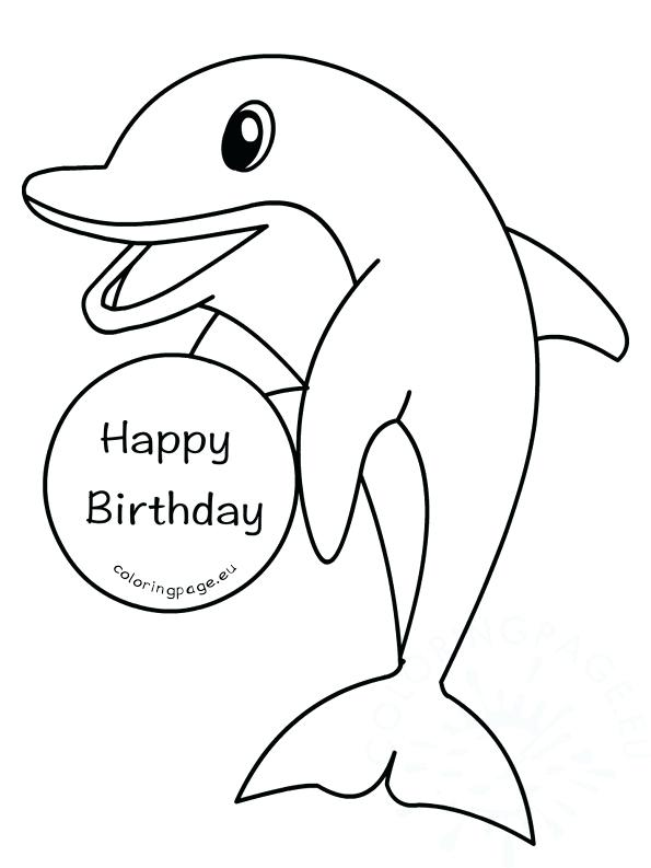 595x793 Coloring Page Dolphin