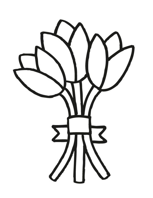 Bouquet Coloring Pages