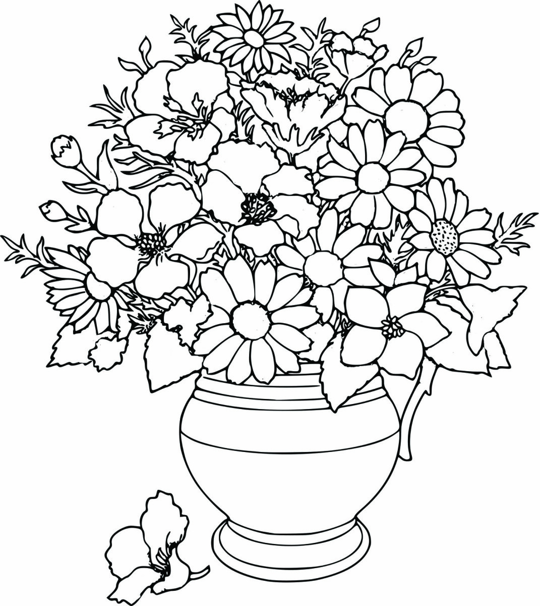 1071x1200 Bouquet Of Roses Coloring Page Flowers Pages Google Twit