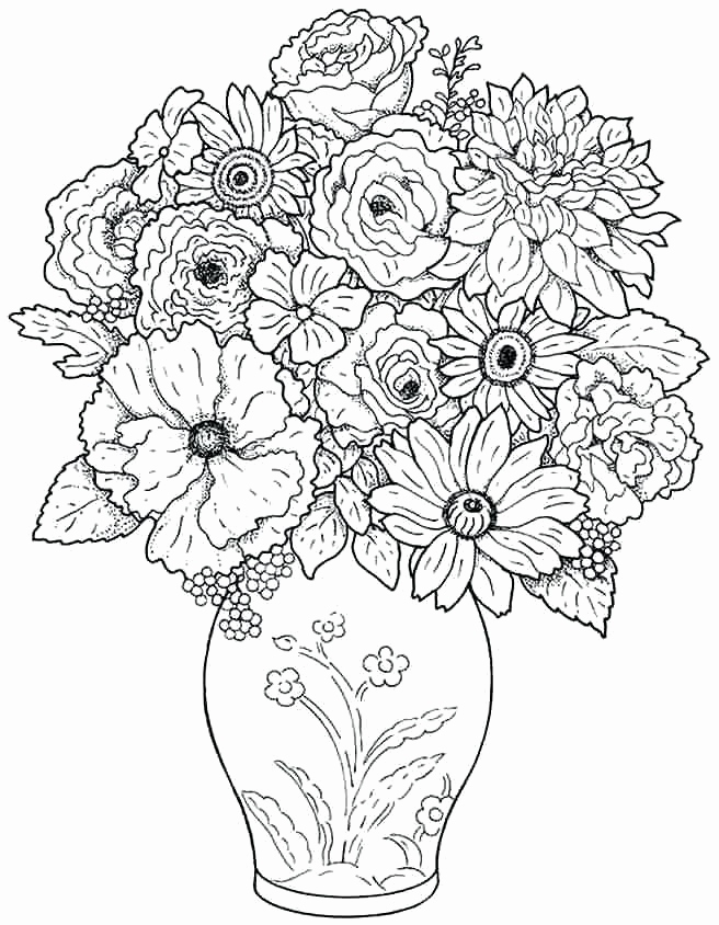 656x844 Flower Bouquet Coloring Pages Collection Flower Bouquet Coloring