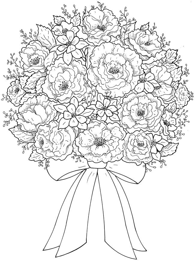 650x870 Best Flower Coloring Images On Colouring Pages