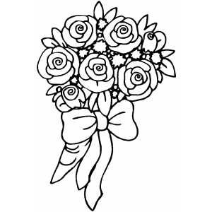300x300 Free Rose Coloring Pages Blank Pictures Of Roses To Download