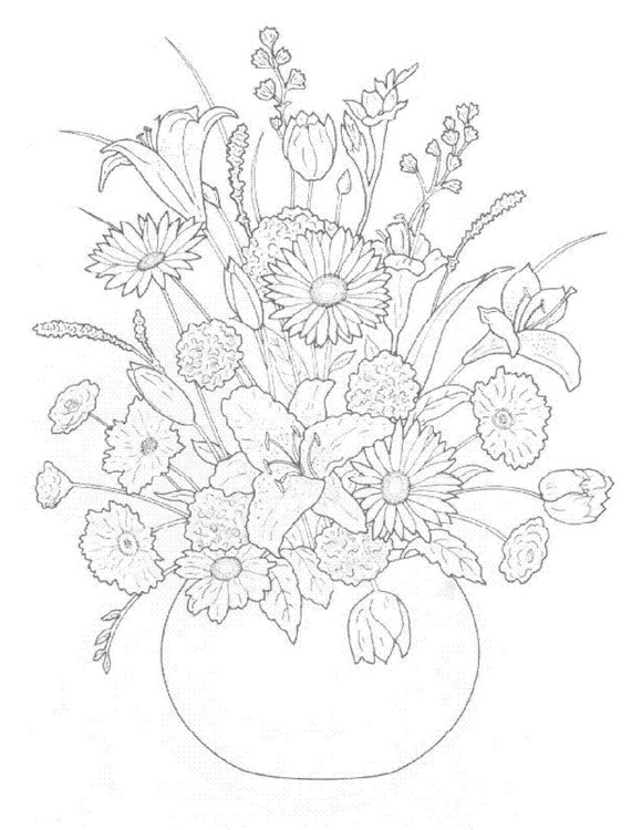 580x750 Kids N Coloring Pages Of Bouquets