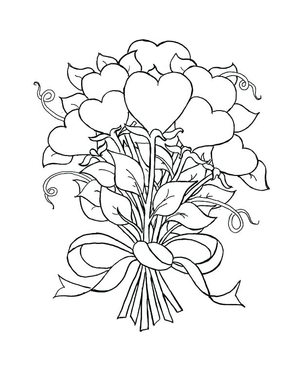 600x788 Roses Coloring Page Coloring Pages Roses And Hearts Beautiful