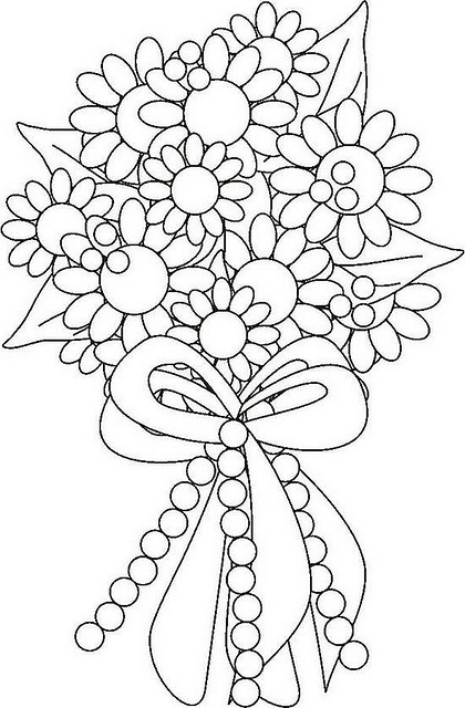 420x640 Bouquet Of Flowers Coloring Pages Download Free Printable