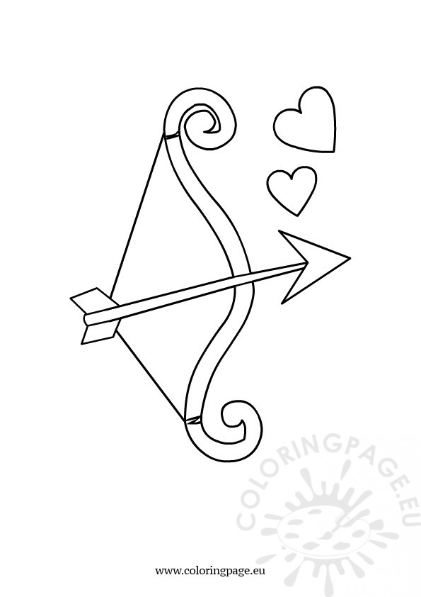 595x842 Bow And Arrow Coloring Page