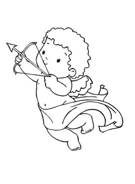460x625 Cute Cupid Coloring Pages