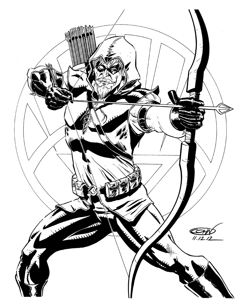 788x1000 Green Arrow Coloring Pages