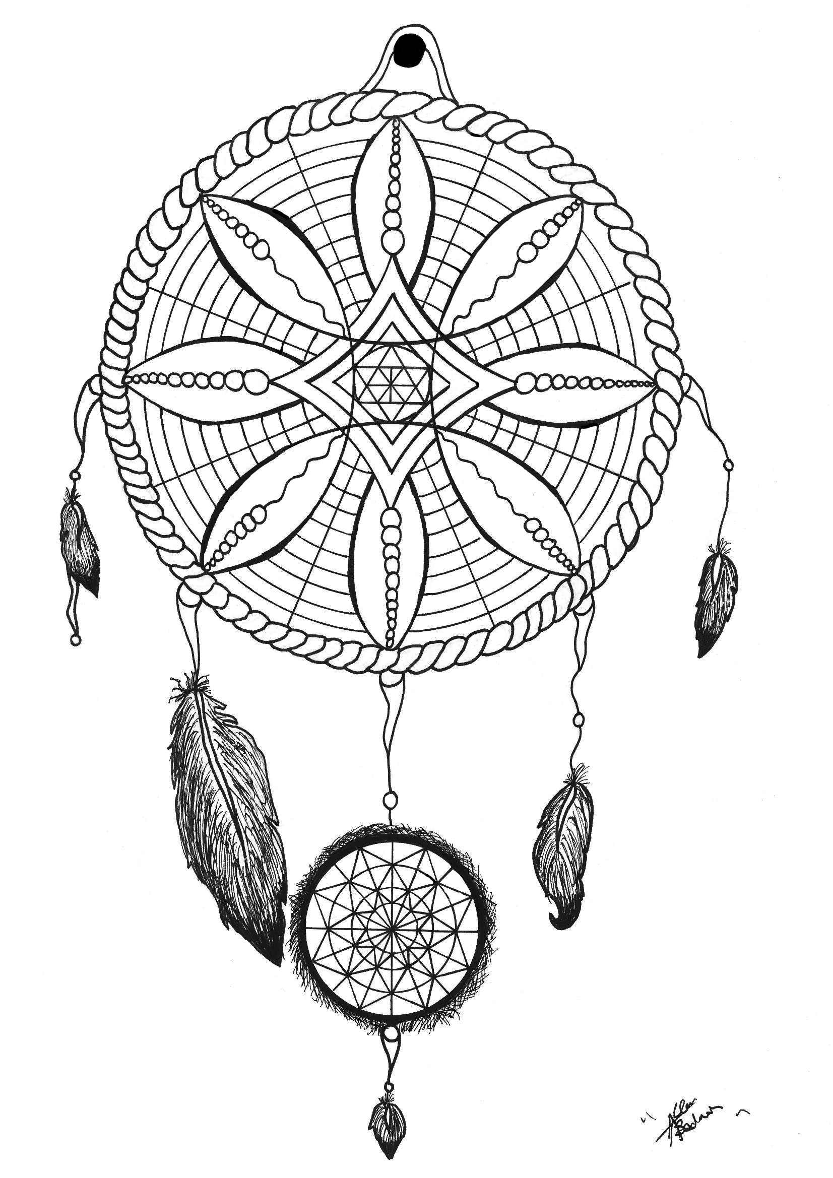 1653x2338 Native American Mandala With Bows And Arrows Coloring Pages