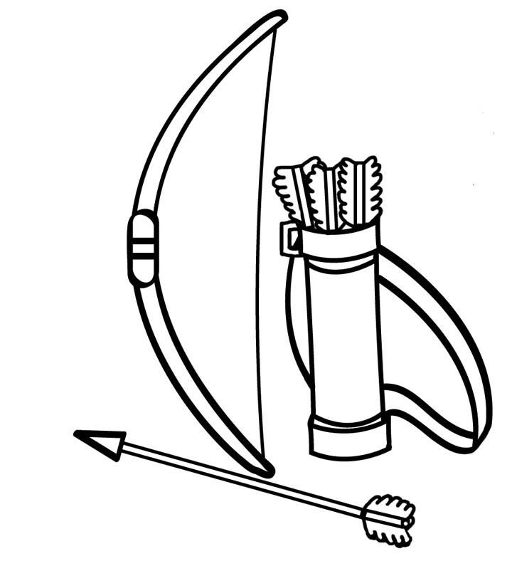 720x802 Bow And Arrow Coloring Pages