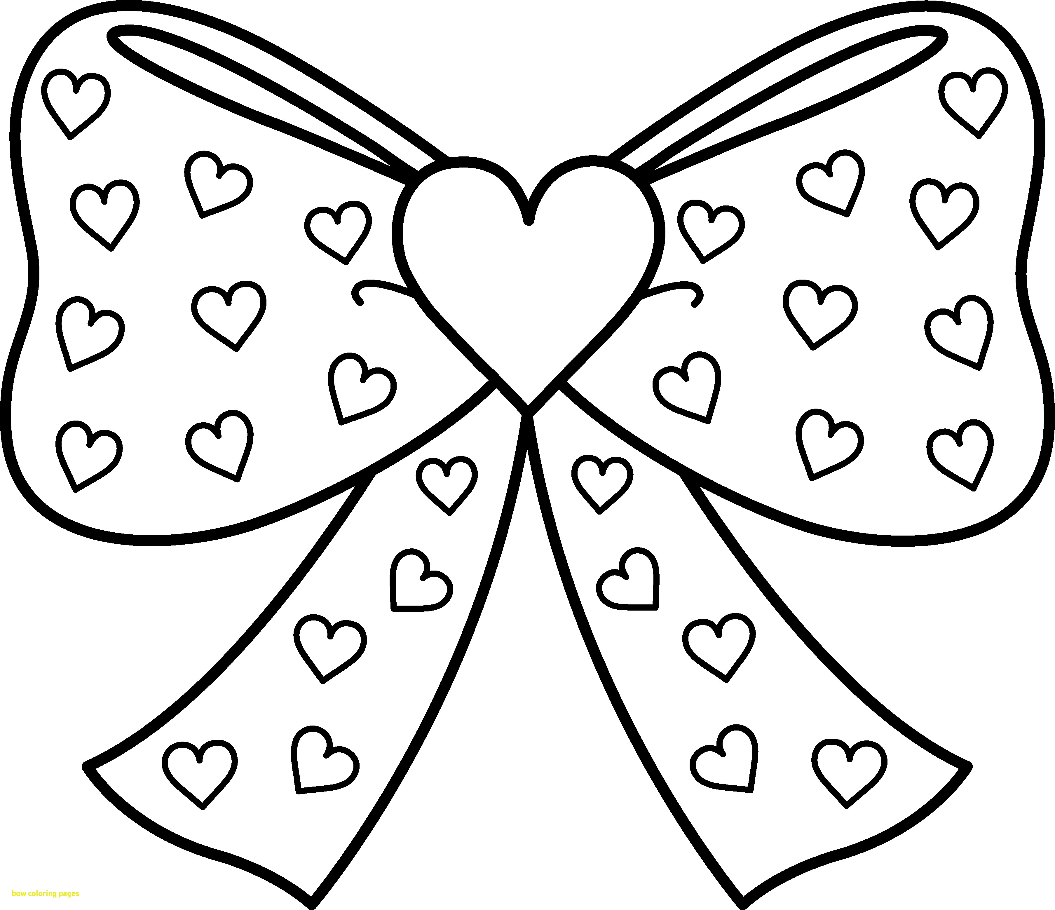 3615x3118 Bow Coloring Pages With Bow With Hearts Coloring Page Free Clip