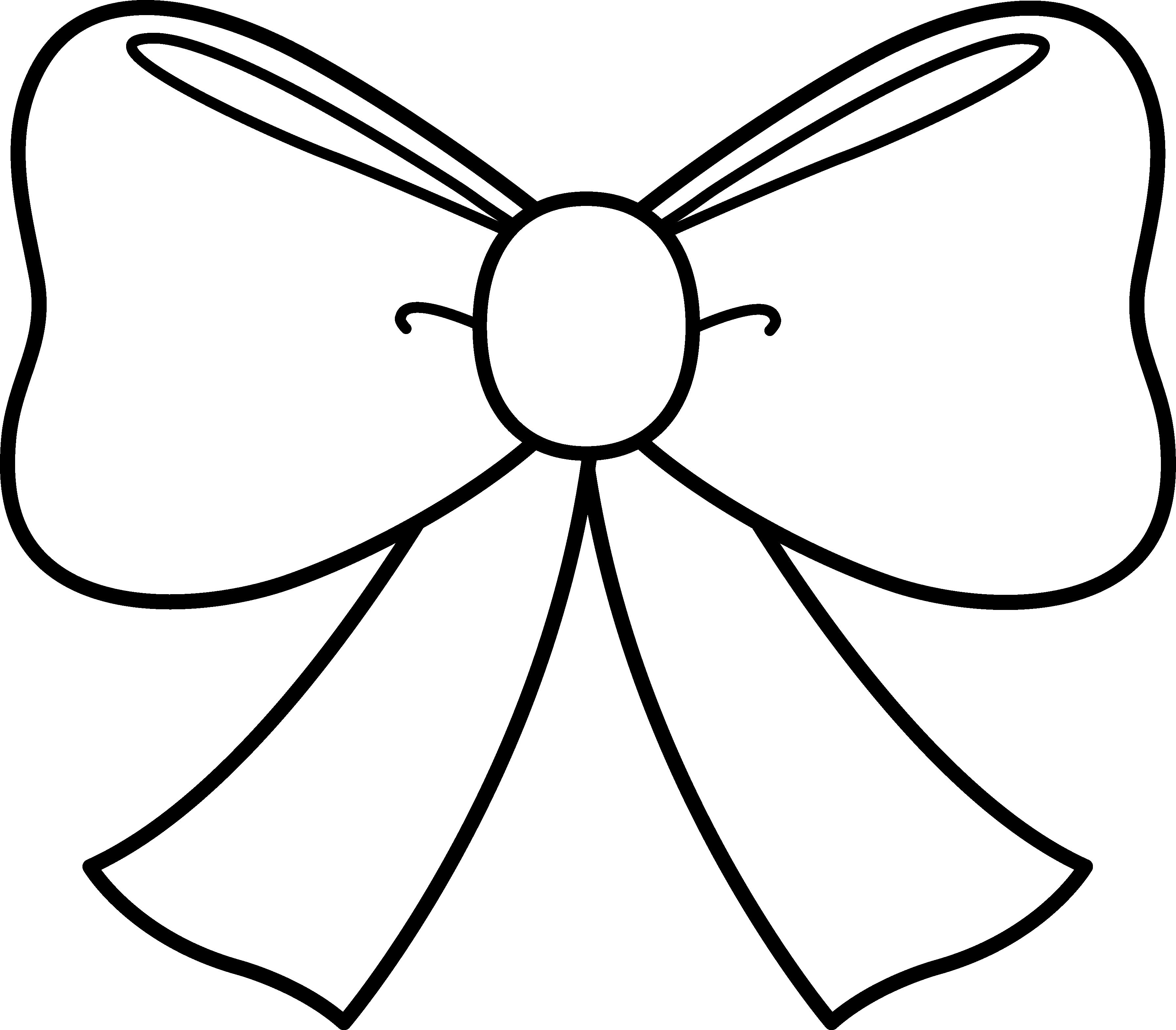 3580x3136 Cute Bow Coloring Page On Bow Coloring Pages