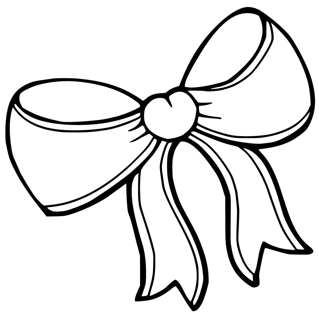 1024x1024 Hair Bow Coloring Pages