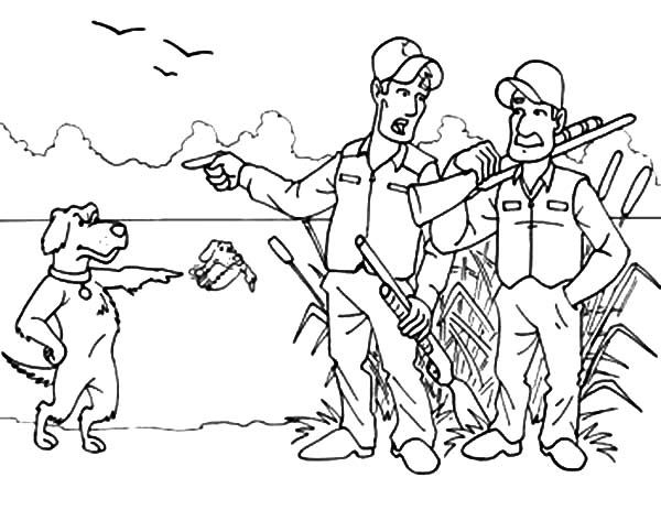 600x463 Smartness Hunting Coloring Pages To Print Dog Gun Adult Bow Bear