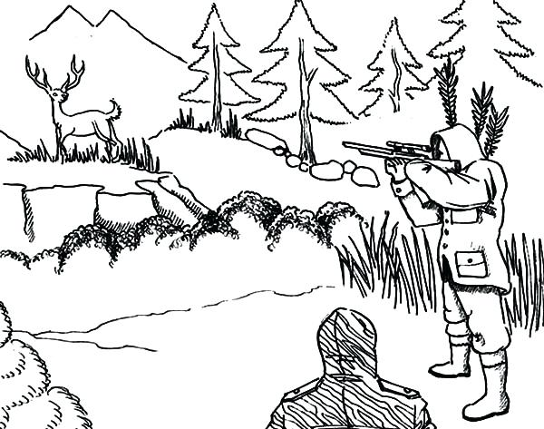 600x473 Hunting Coloring Pages