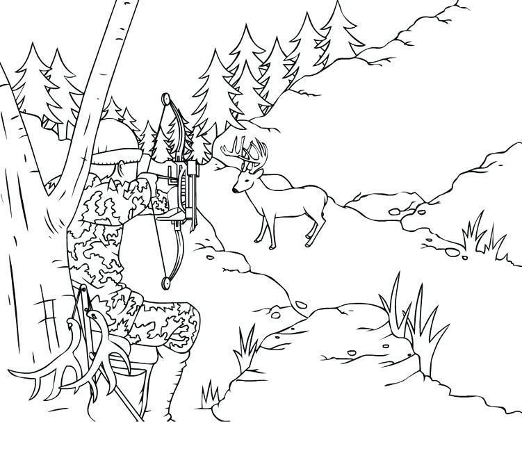 751x649 Bow Coloring Page Perspective Hunting Coloring Pages Rainbow
