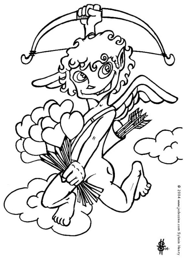 639x900 Cherub And Bow Coloring Pages