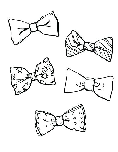 392x507 Bows Coloring Pages Also Bows Coloring Pages Printable Bow Tie