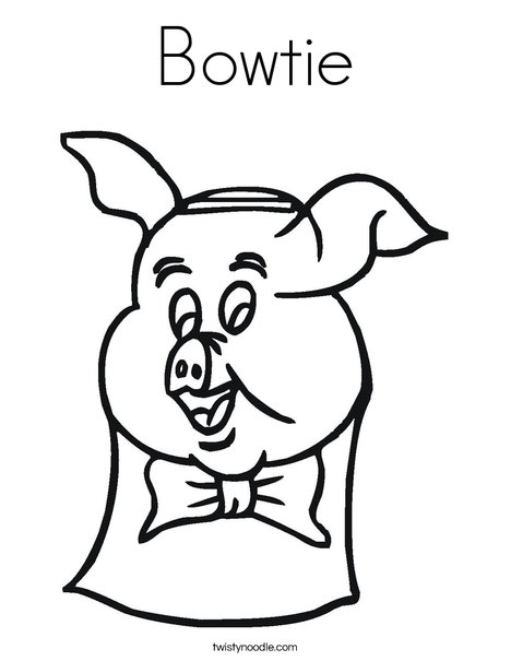 468x605 Bowtie Coloring Page