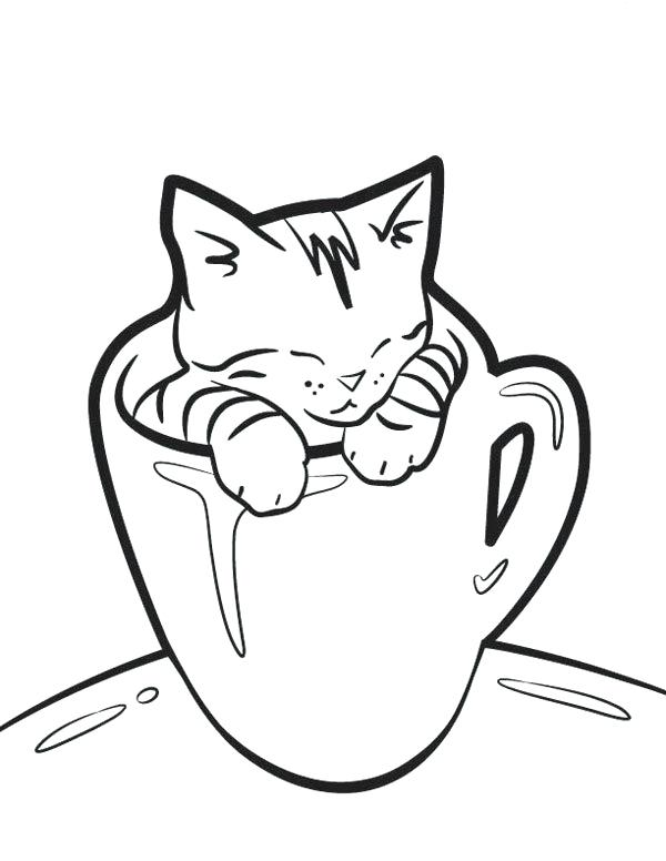 600x776 Coloring Page Cat