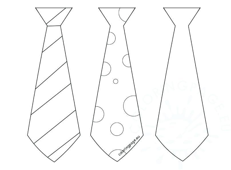 808x595 Tie Coloring Page