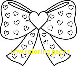 300x258 Bow Coloring Pages With Bow Tie Template