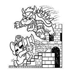 Bowser Coloring Page At Getdrawings Com Free For Personal Use