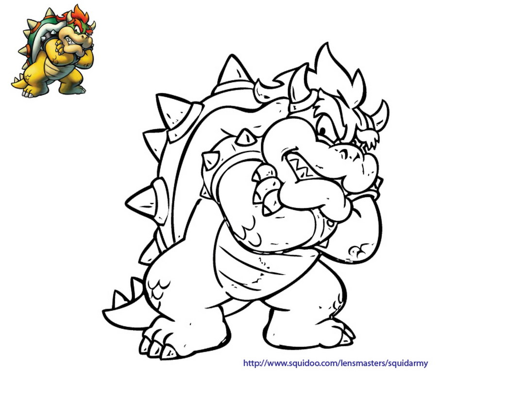 1048x810 Bowser Coloring Page