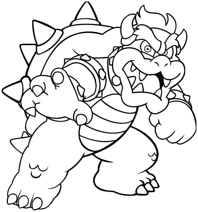 631x677 Bowser Coloring Pages