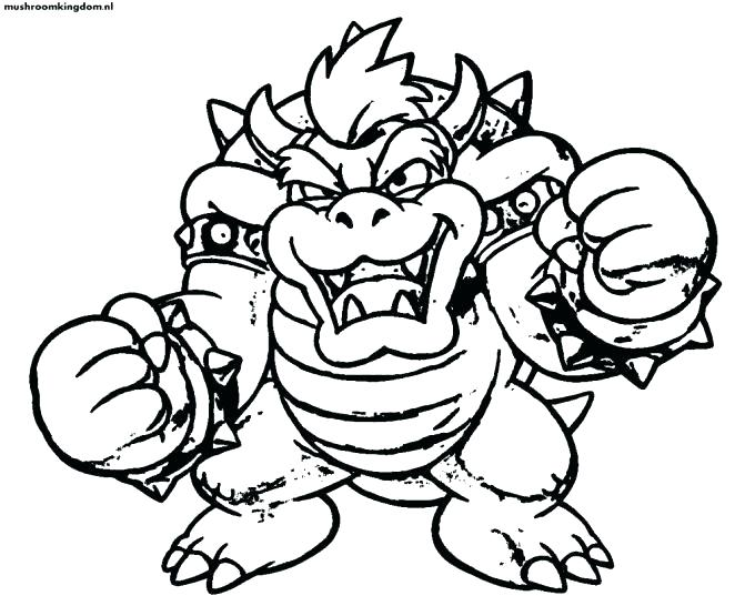 671x537 Bowser Coloring Page Coloring Page Super Coloring Pages Super