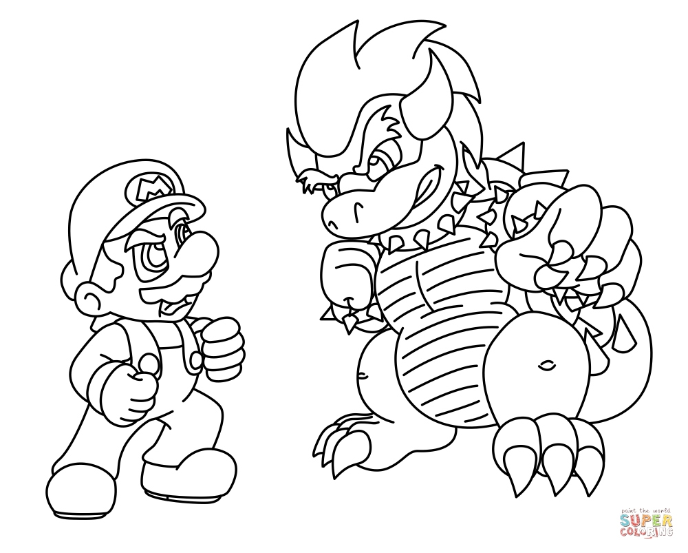 1000x803 Bowser Coloring Pages Luxury Bowser Coloring Pages Line Coloring