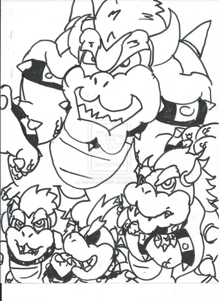 Bowser Coloring Pages Free