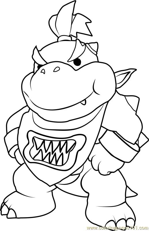 517x800 Bowser Coloring Page Bowser Jr Coloring Page Free Super Mario
