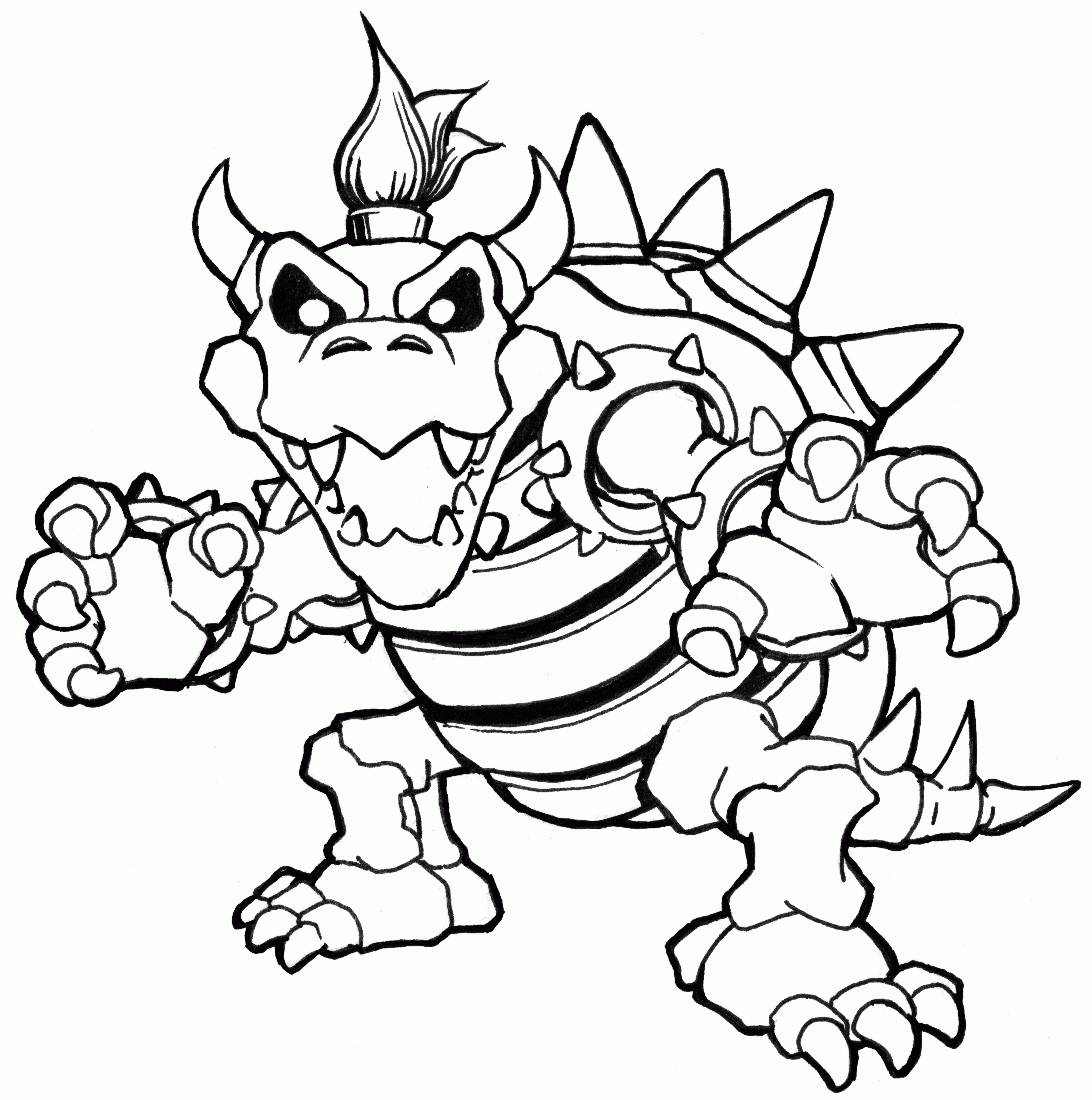 7000x7053 Bowser Coloring Pages Elegant Mario Bowser Jr Coloring Pages