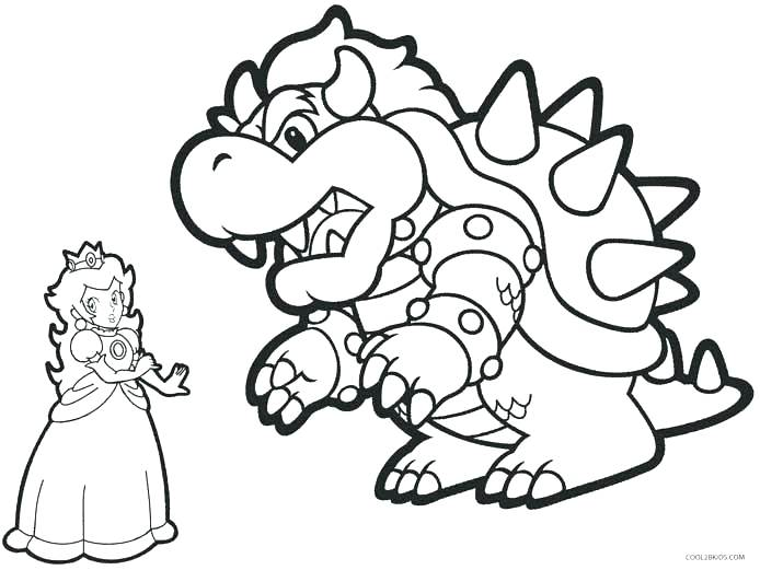 694x521 Bowser Jr Coloring Pages Color Page Coloring Pages Brothers