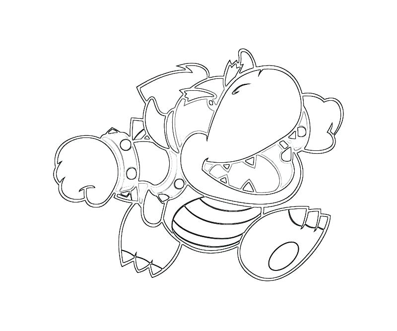 800x667 Bowser Jr Coloring Pages Printable Back To Post Dry All