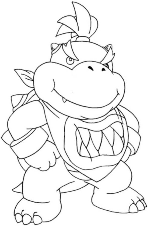 589x900 Bowser Jr Mario Coloring Page
