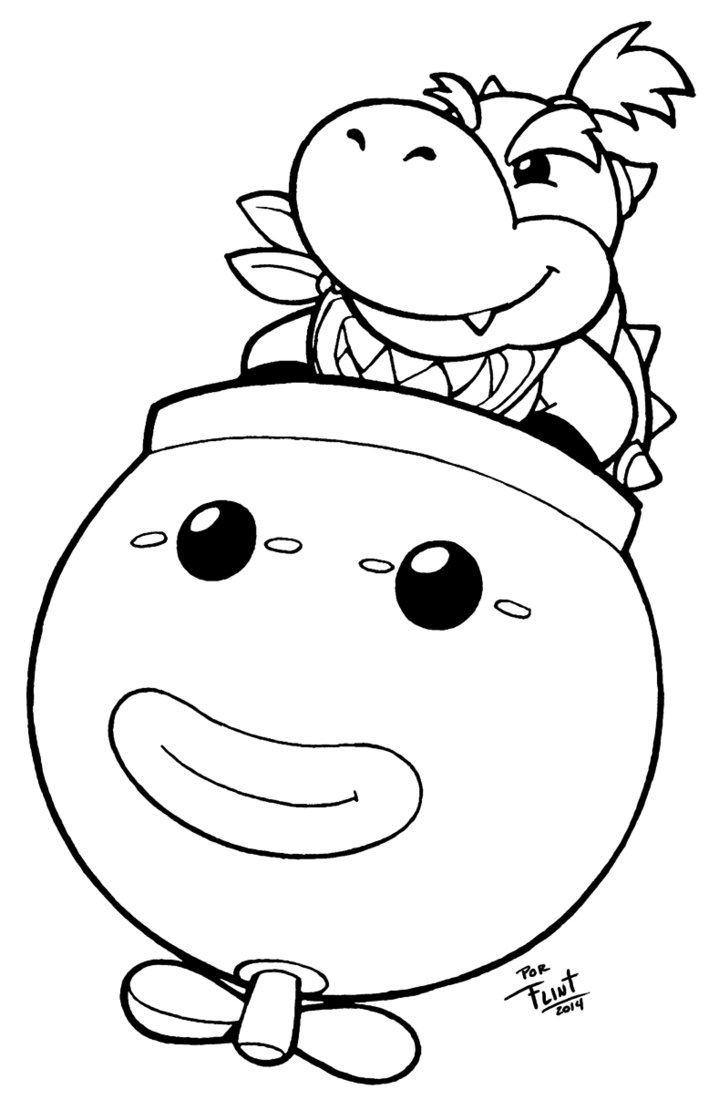 719x1110 Bowser Jr Coloring Pages Pictures Free Coloring Pages