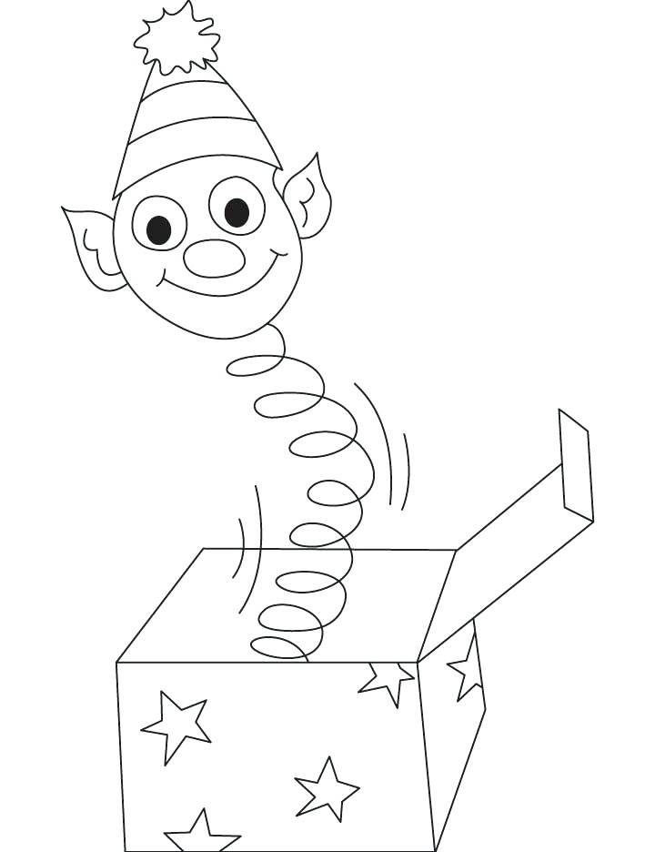 720x936 Box Coloring Page Jack In The Box Coloring Pages Christmas Box