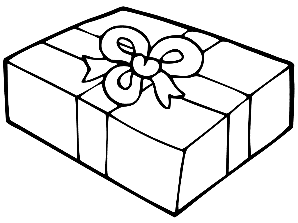 1024x768 Christmas Gift Boxes Coloring Pages