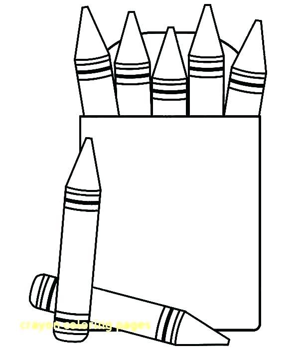 600x708 Crayon Coloring Pages Crayola Crayon Names Coloring Page Crayon