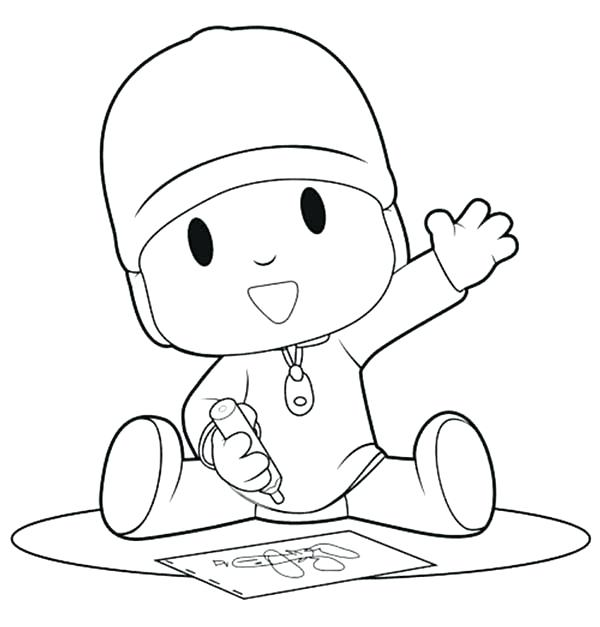 600x627 Crayon Coloring Pages Is Drawing With Crayon Coloring Page Crayon