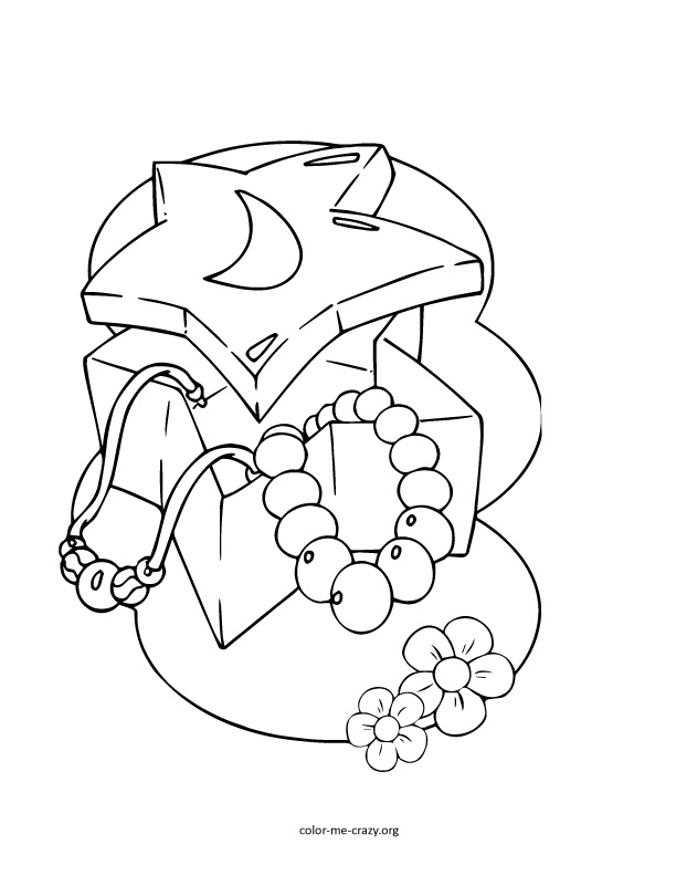612x792 Jewelry Coloring Pages