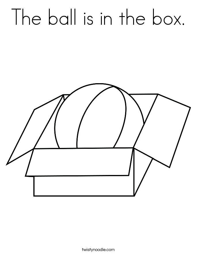 685x886 The Ball Is In The Box Coloring Page