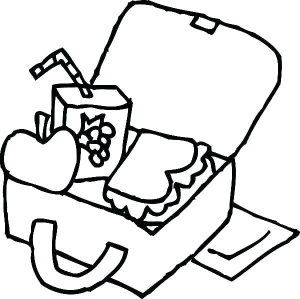 600x598 Box Coloring Page Box Coloring Pages Box Coloring Page Lunch Box