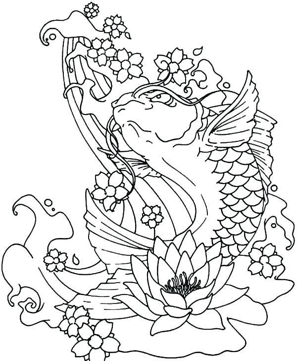 600x728 Coloring Page Fish Valuable Idea Fish Coloring Page Fish Coloring