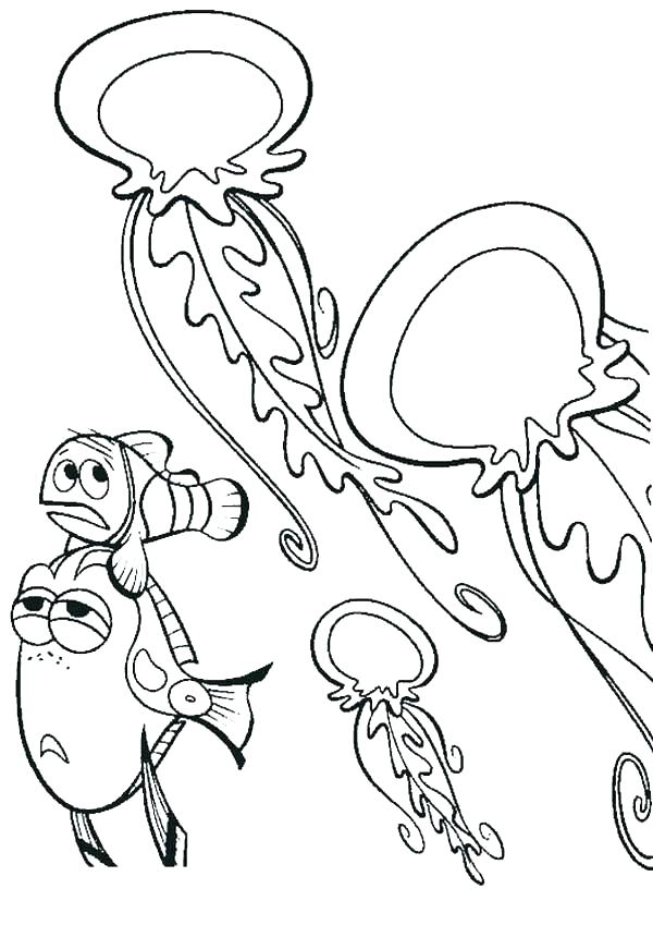 600x849 Coloring Pages Of Jellyfish Jellyfish Coloring Page Jellyfish