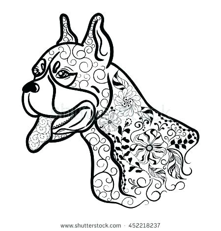 450x470 Boxer Coloring Pages Dog Printable Coloring Pages The Dog