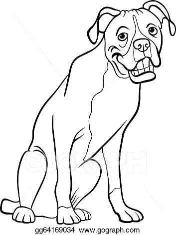 353x470 Boxer Dog Coloring Sheets Vector Illustration Cartoon For Book