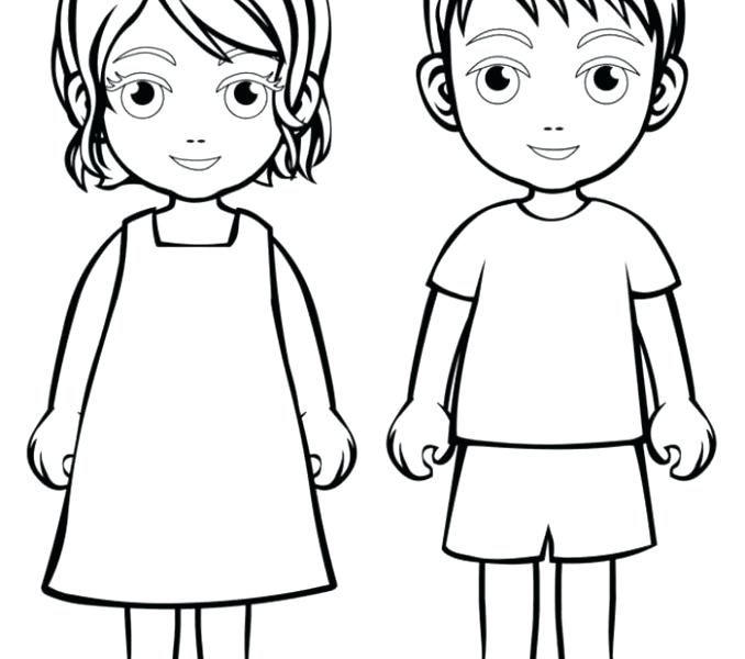678x600 Boy And Girl Colouring Pictures Printable Coloring Boy And Girl